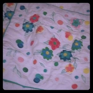 Pottery barn teen curly Q quilt